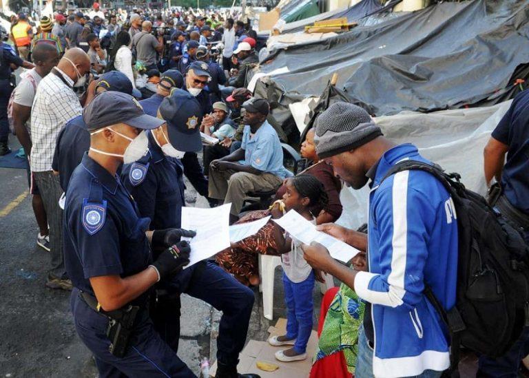 Cape Town refugees refuse to move despite health concerns