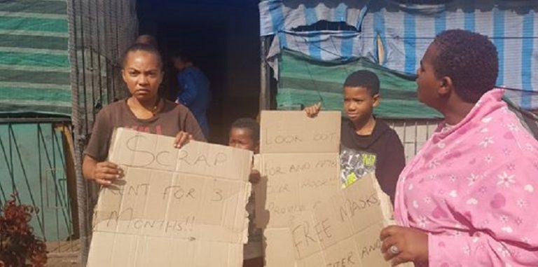 Covid-19 community screening Bishop Lavis protest