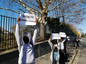 Cape Town: Gym managers, members protest continued closure under lockdown