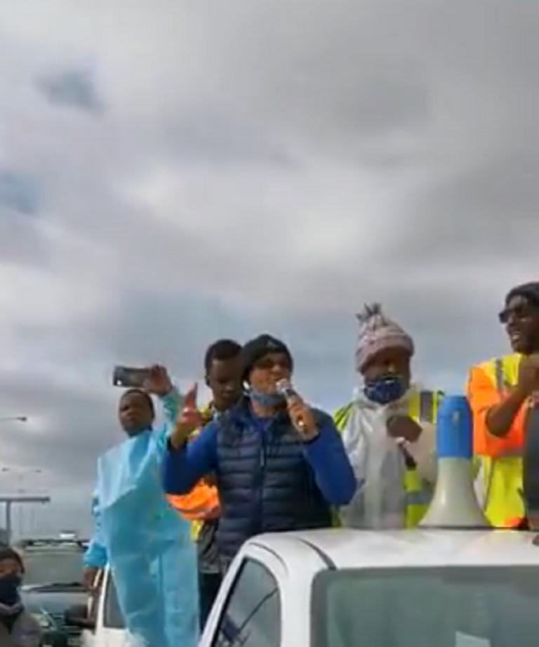WATCH: N2 closed as Cape Town undertakers embark on shutdown