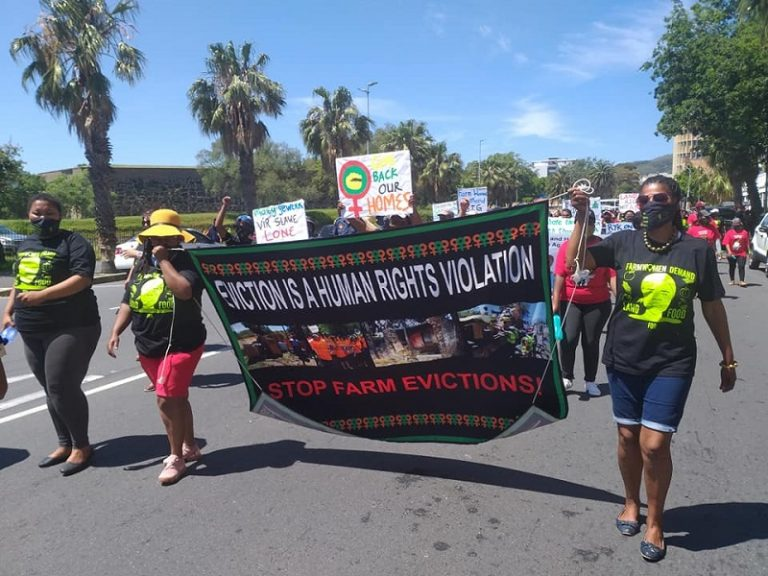 Farm workers march to parliament for land