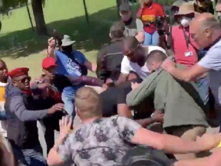 Debbie Schäfer condemns violent clashes outside Brackenfell High School