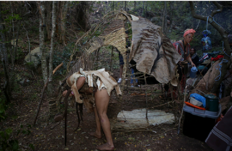 Indigenous tribes occupy Table Mountain