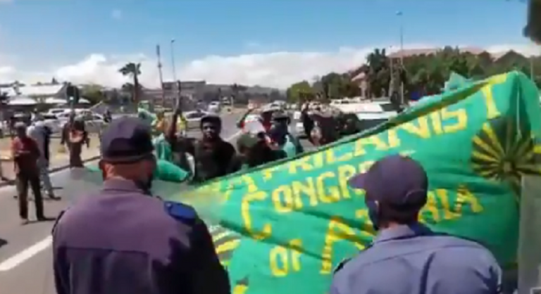 Police fire stun grenades at PAC protesters near Brackenfell High School