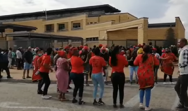 EFF members appear in Blue Down's magistrate's court for public violence