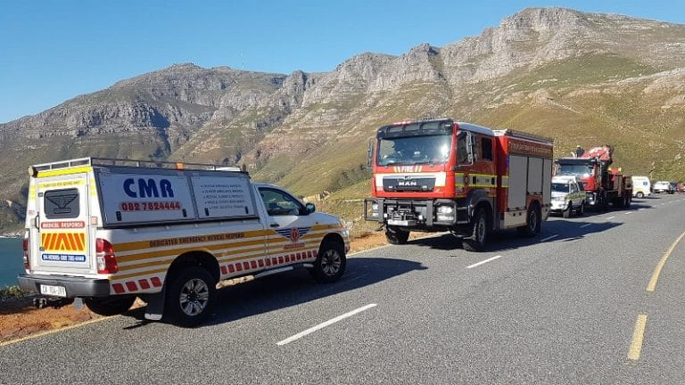 Police investigate case of culpable homicide after vehicle plunges off Chapman's Peak