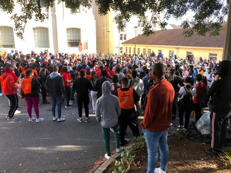 UCT students protest against financial exclusion