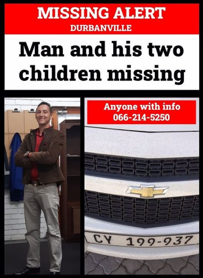 Durbanville father and his 2 young children missing