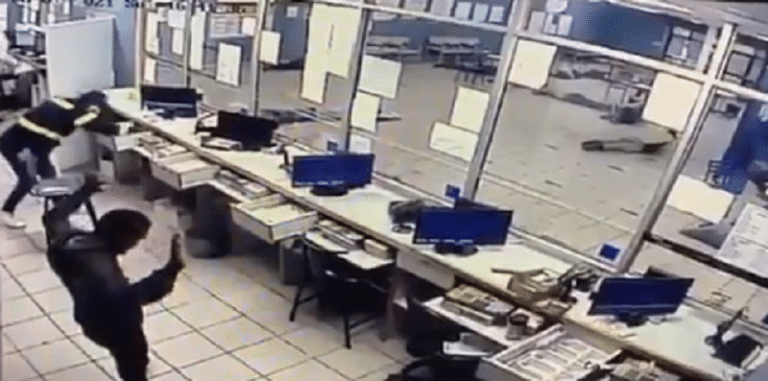 Watch: Armed robbery at Horse betting office in Mitchell's Plain